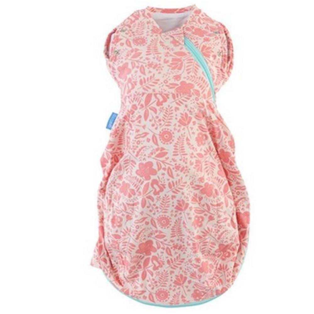 The Gro Company Swaddle Grobag, Light (Wild Posy) - Newborn