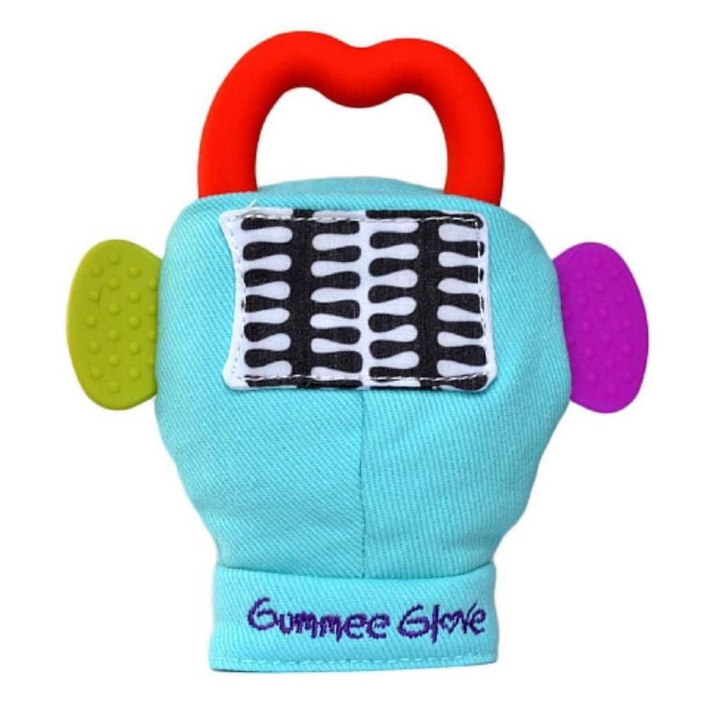 Gummee Glove Plus Teething Mitten Turquoise Free Shipping!