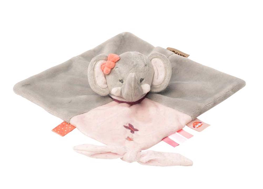 Nattou Adele & Valentine Collection - Doudou Comforter (Adele The Elephant)