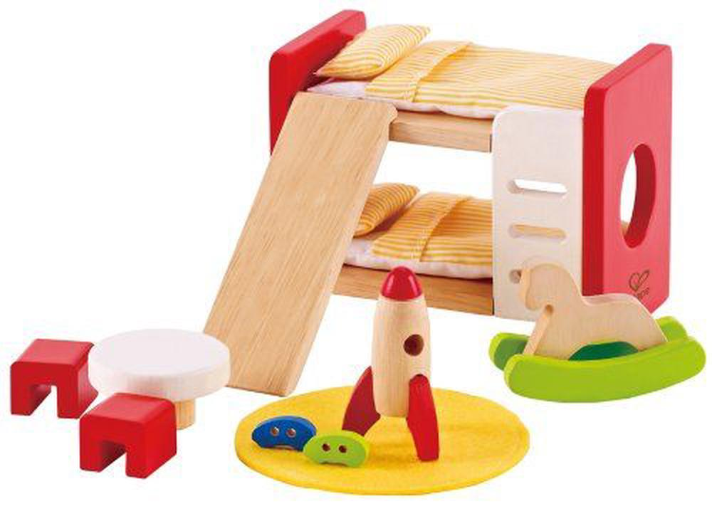 Hape All Seasons Wooden Dollhouse Furniture Childrens Room