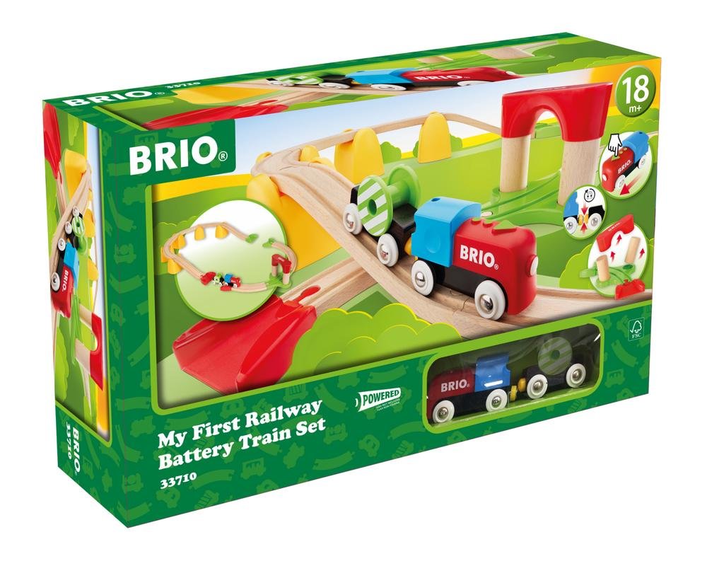 BRIO My First Railway Battery Operated Train Set, 25 Pieces