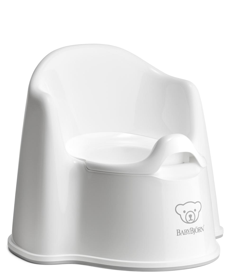 BabyBjorn Potty Chair for Toilet Training (White/Grey)