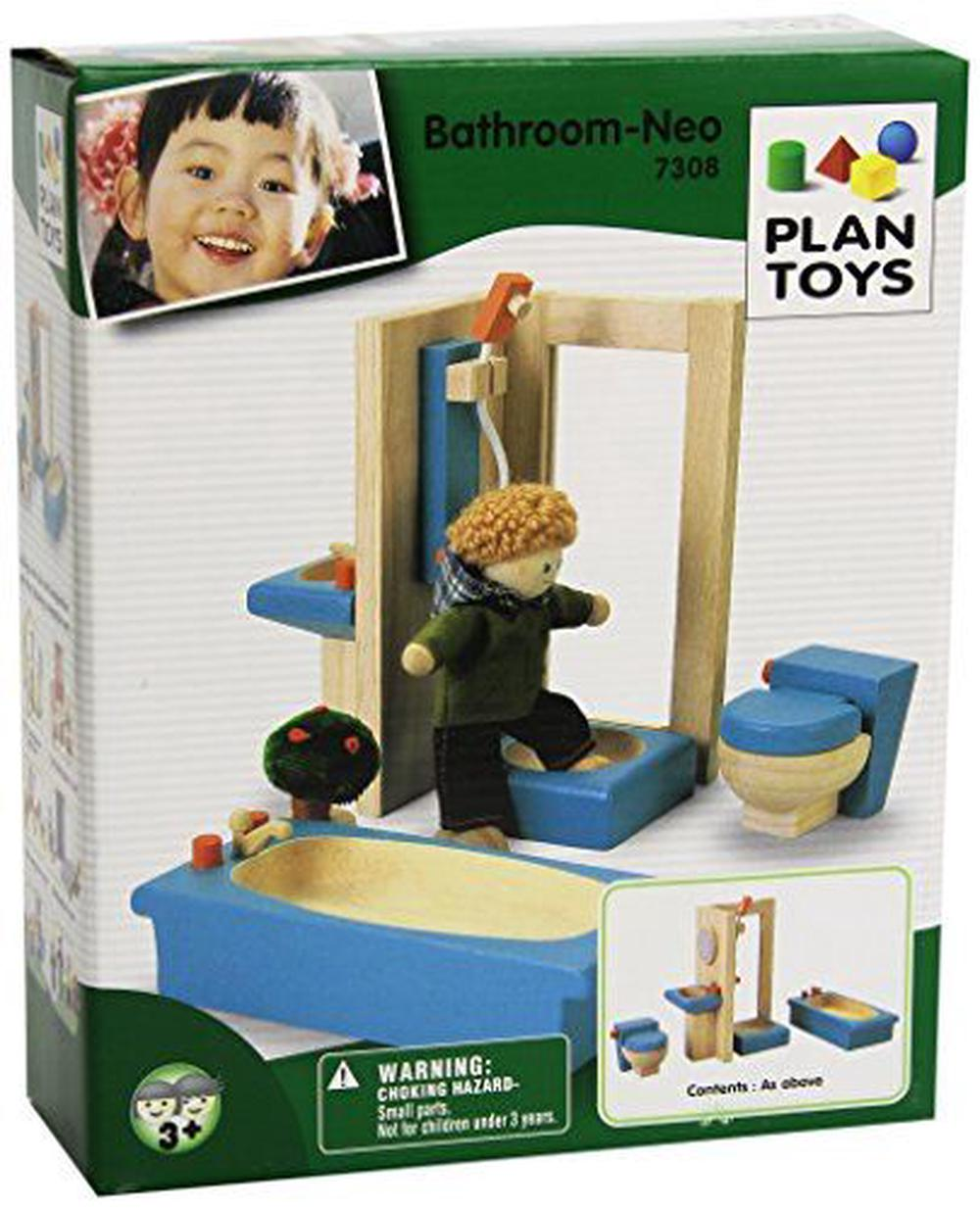 Plantoys plan toys dollhouse furniture neo bathroom by plantoys