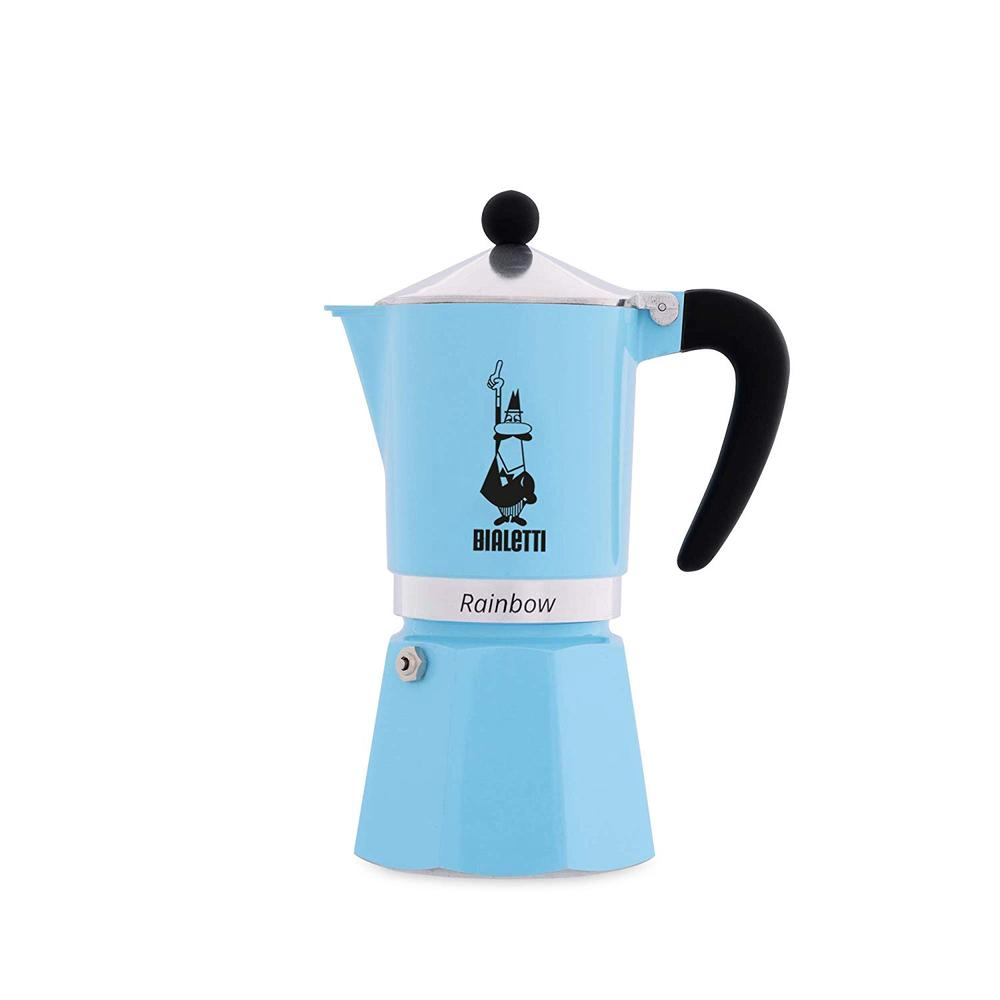 Bialetti Rainbow Coffee Maker (Light Blue) - 6 Cups