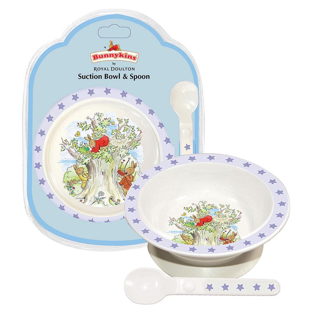 Bunnykins Suction Bowl & Spoon (Shining Stars Blue)