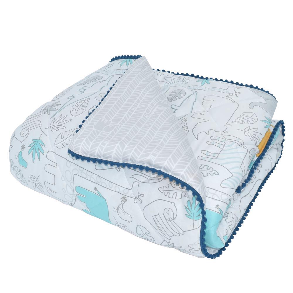 Lolli Living Cot Comforter (Urban Safari) - 95 x 110cm