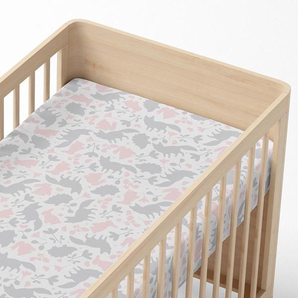 Lolli Living Cot Fitted Sheet (Forest Friends) - 77 x 132 x 19cm