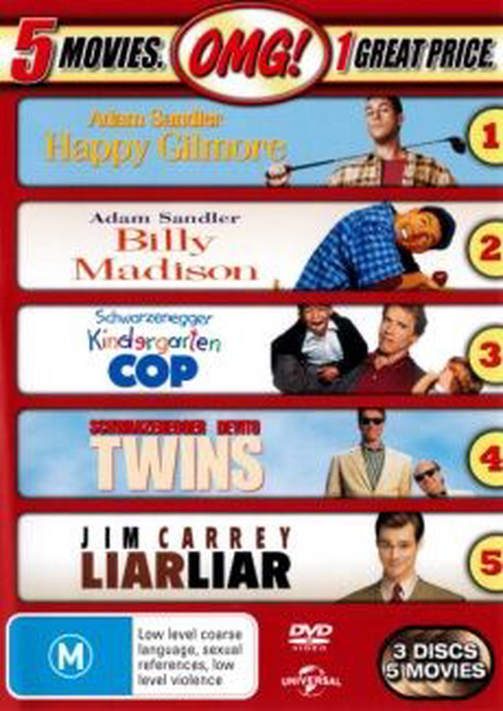 Happy Gilmore / Billy Madison / Kindergarten Cop / Twins / Liar Liar