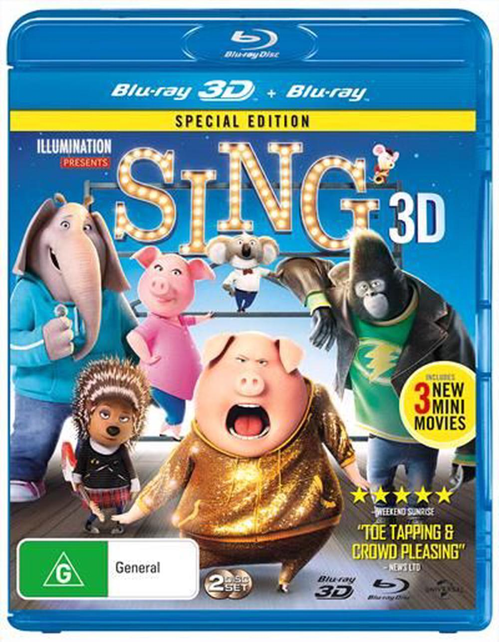 Sing: Special Edition | 3D + 2D Blu-Ray