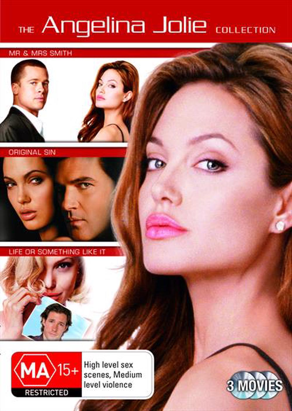 Angelina Jolie Original Sin angelina jolie 3 movie collection: mr and mrs smith / life