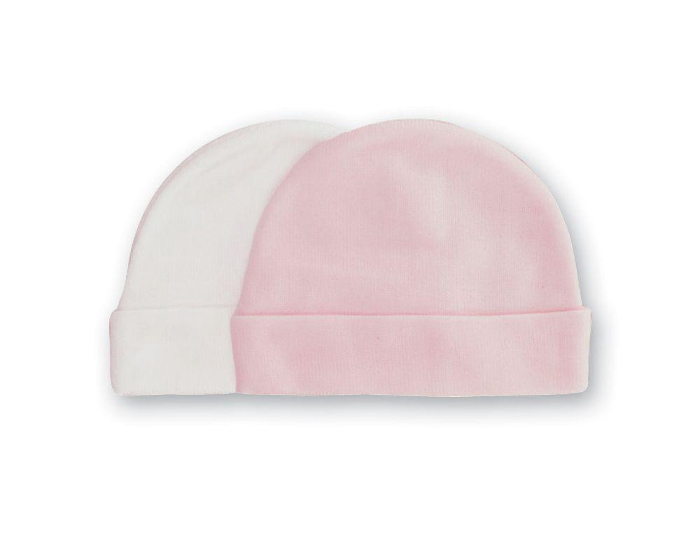 60ebb0a22 Playette Newborn Bamboo Beanie, 2 Pack (White/Pink) | Buy online at ...