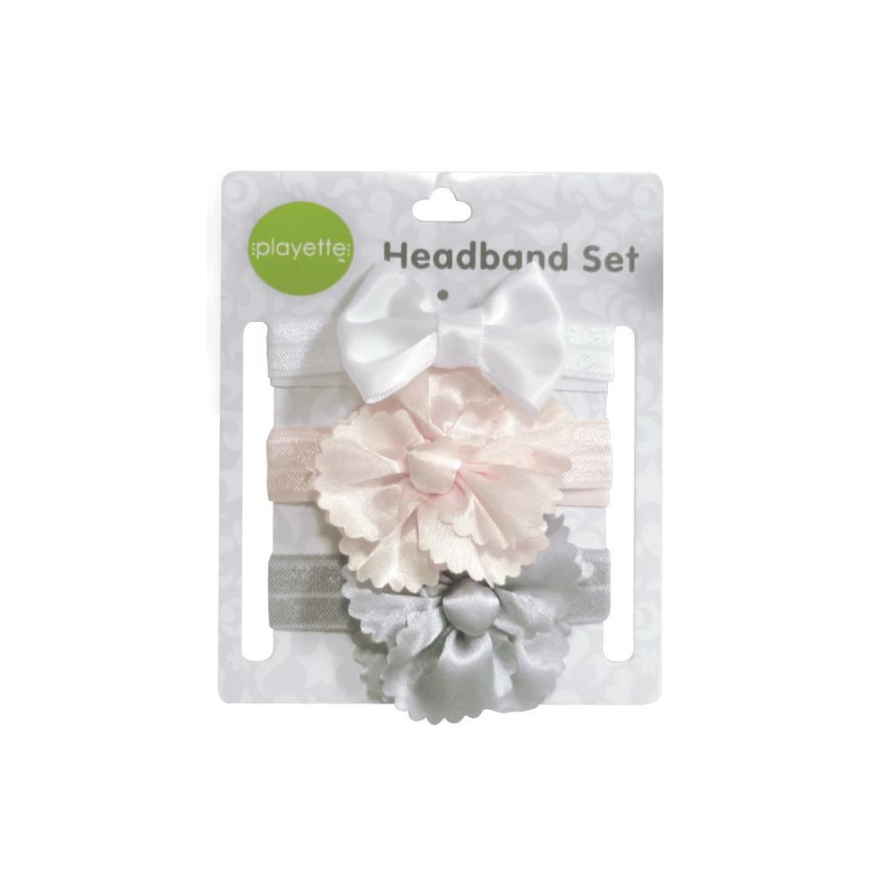 Playette Flowerbow Satin 3 Pack Headband Set Buy Online At The Nile