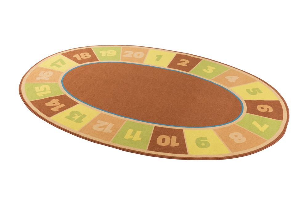 Playzone Oval Numbers Kids Seating Mat