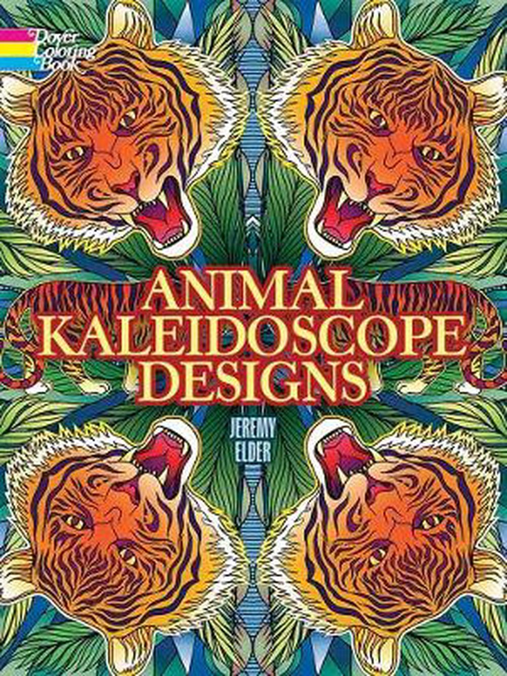Animal Kaleidoscope Designs Coloring Book