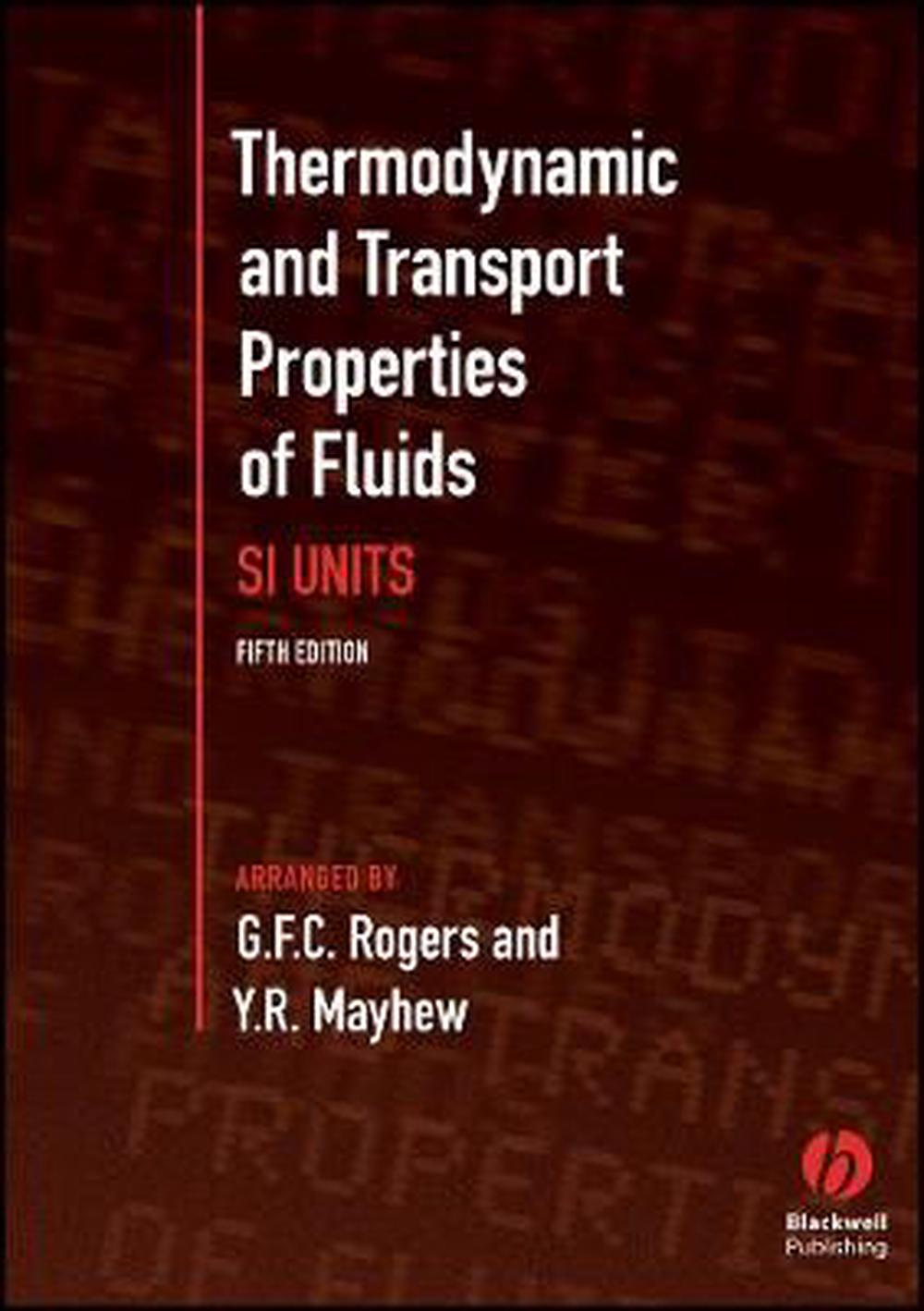 Thermodynamic and Transport Properties of Fluids, 5th Edition