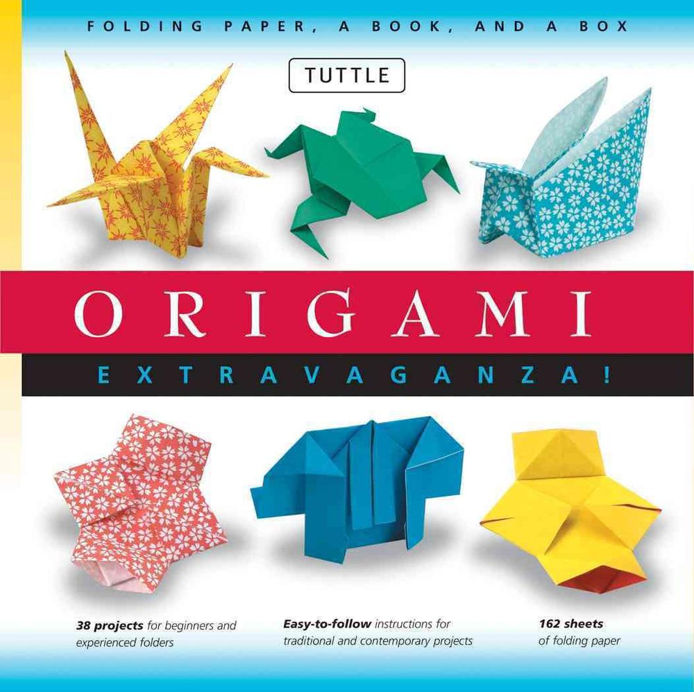 Origami Extravaganza! Folding Paper, a Book, and a Box: [Boxed Kit with 162 Folding Papers & Full-Color Book] [With Paper, Box]