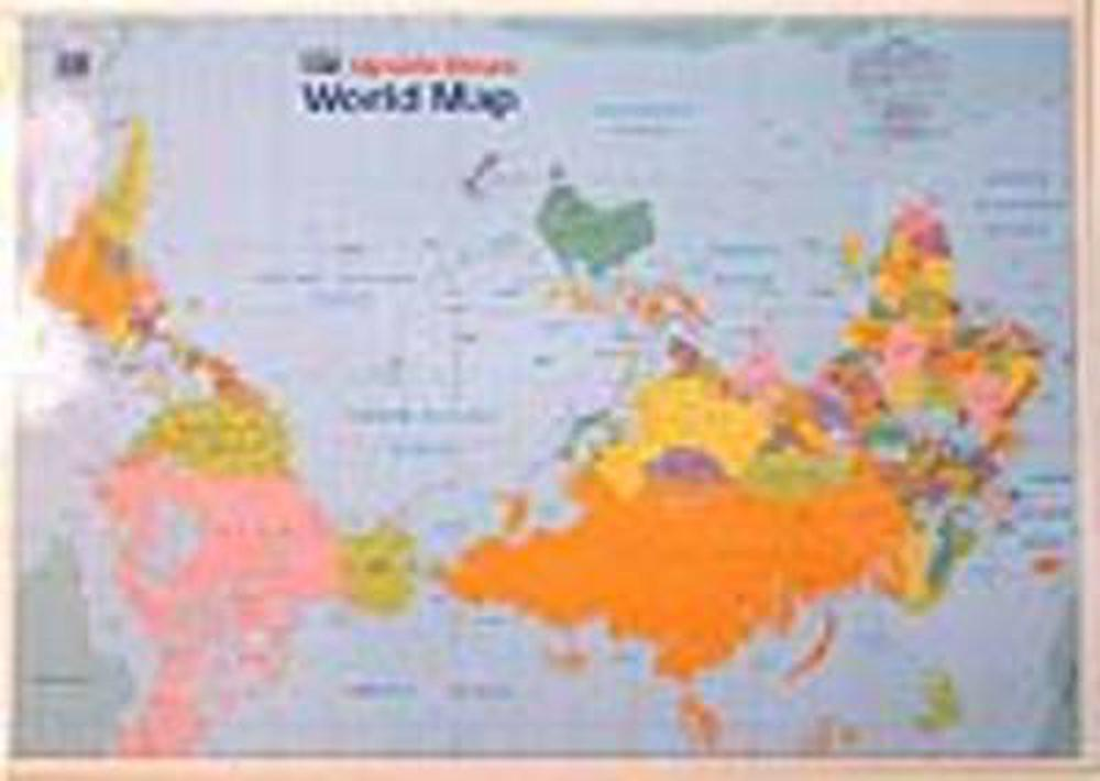 Kiwi Upside Down World Map 9780958230698 Buy Online At The Nile