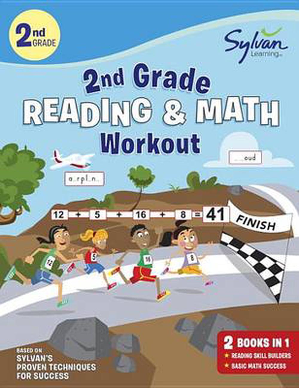 Second Grade Reading & Math Workout by Sylvan Learning, Paperback ...
