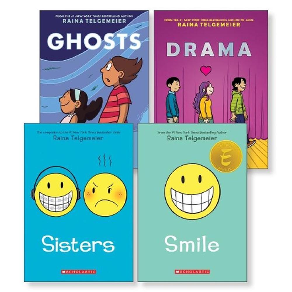 Raina Telgemeier Collection (Box Set: Ghosts, Drama, Sisters, Smile)