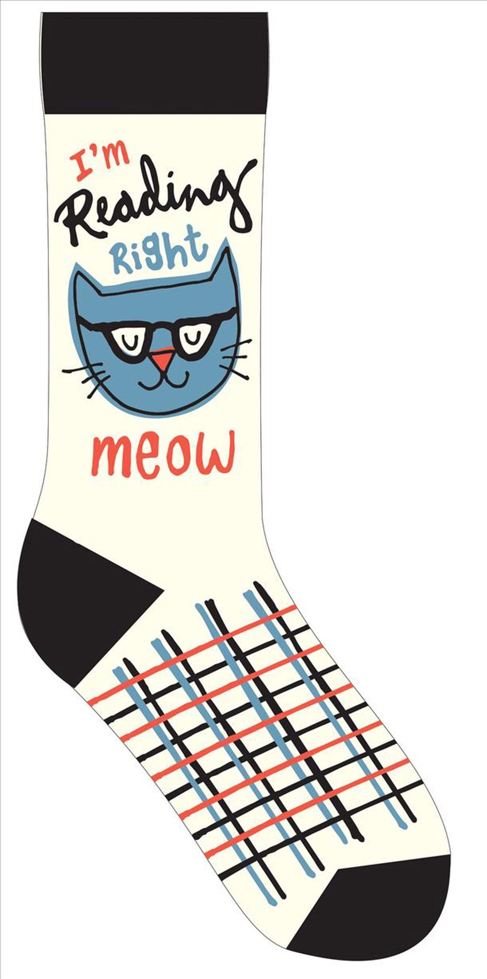 I'm Reading Right Meow Socks