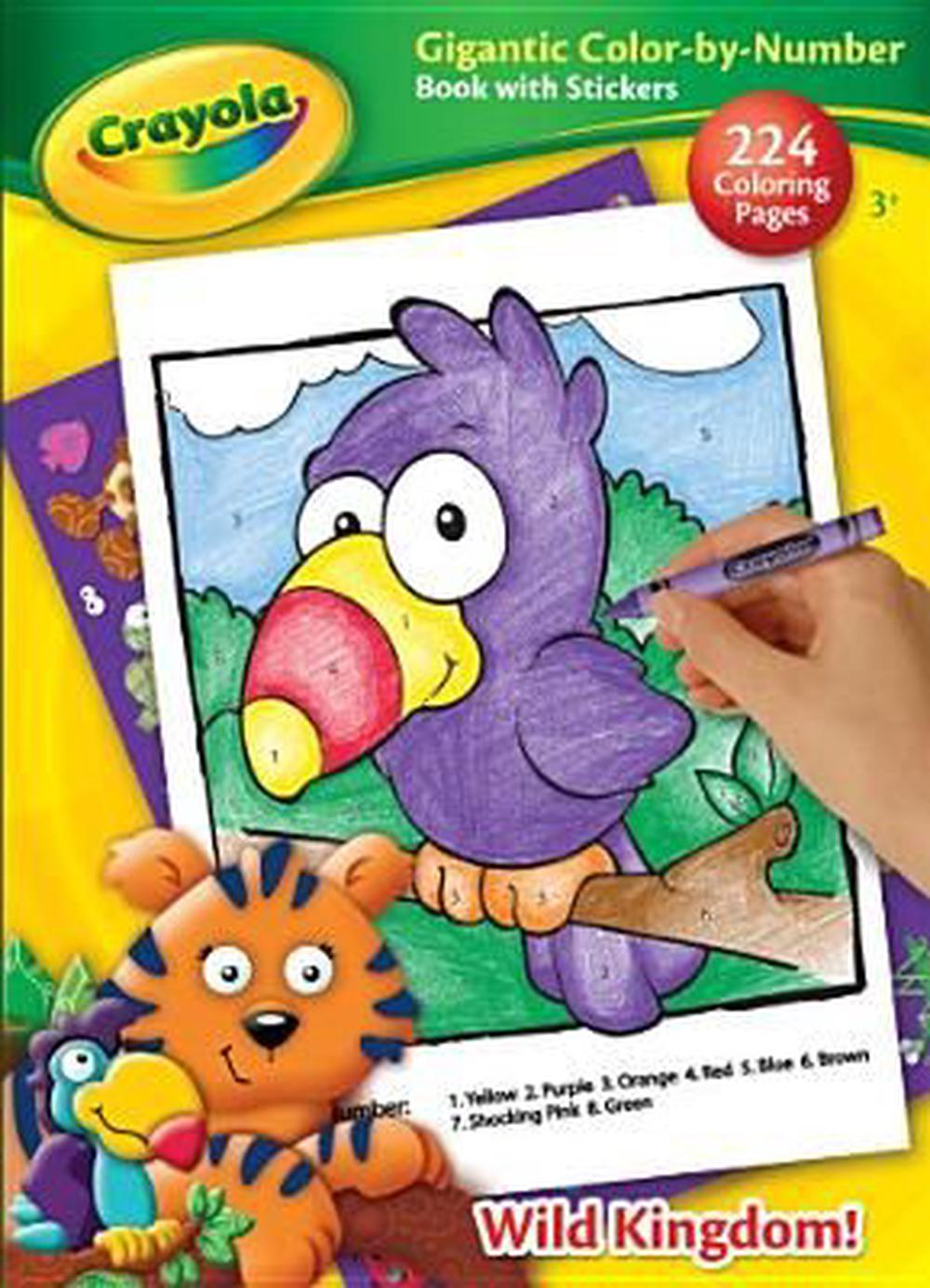 Crayola Color-By-Number Colorful Play, Paperback, 9781453014363 ...