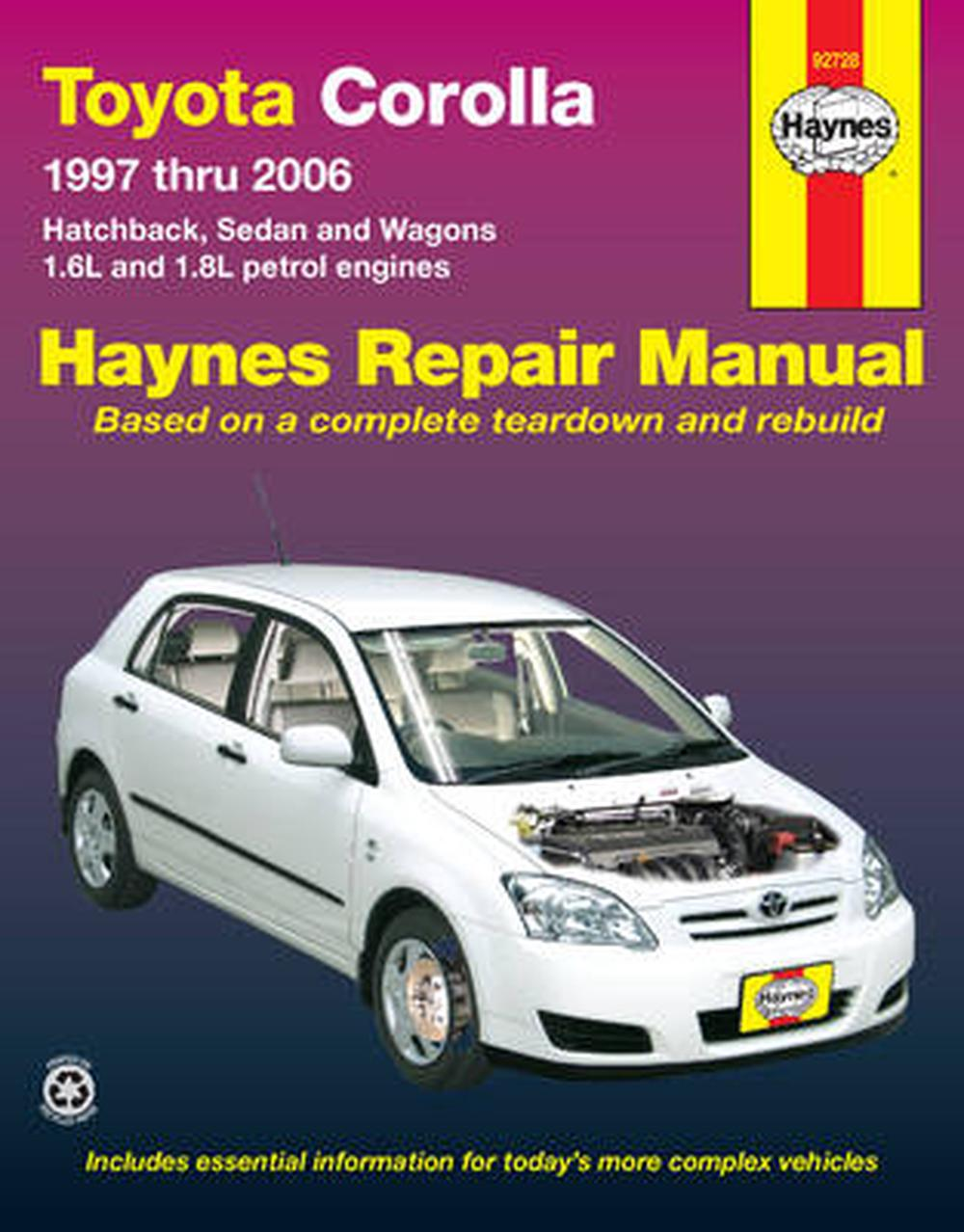 Corolla service manual toyota corolla service and repair manual array toyota corolla automotive repair manual 1997 2006 by haynes rh thenile fandeluxe Images