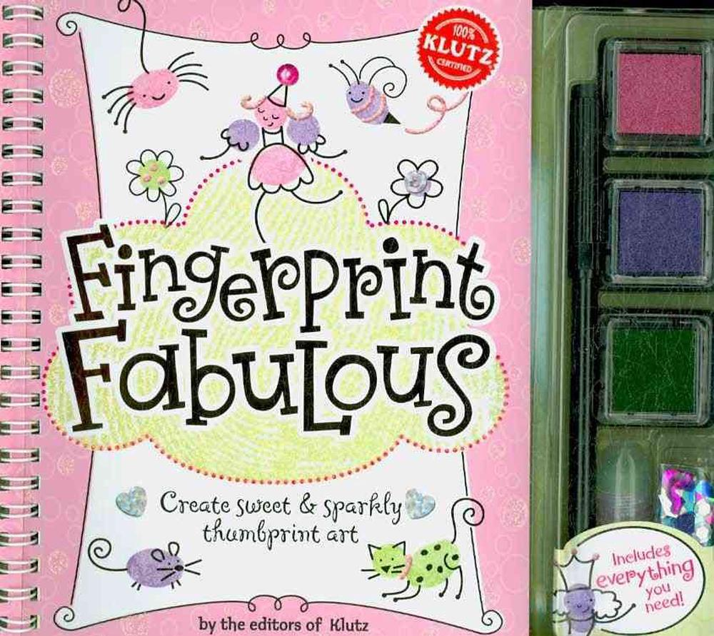 Fingerprint Fabulous: Create Sweet & Sparkly Thumbprint Art [With Sequins and Three Ink Pads and Postcards and Glitter Glue and Marker]