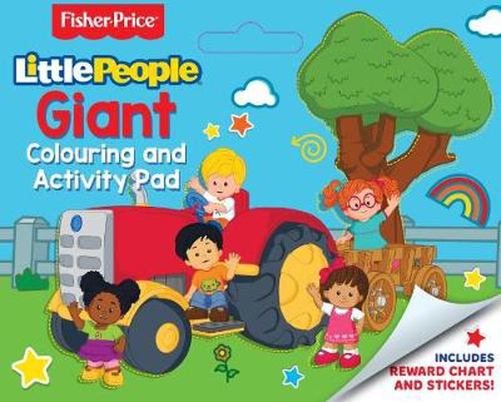 Fisher-Price: Little People Giant Colouring and Activity Pad