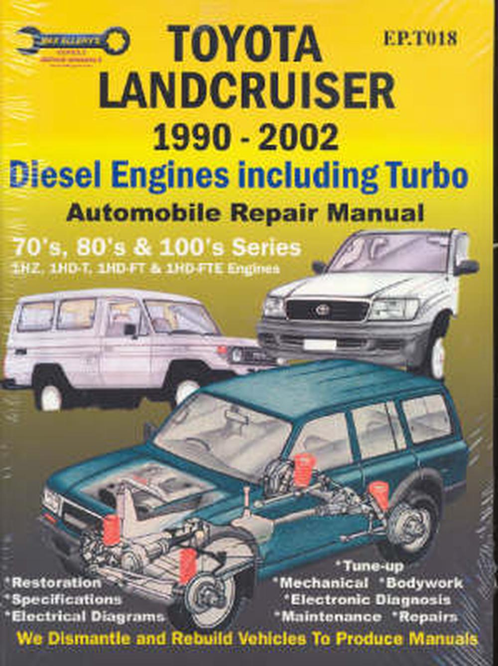 Toyota Landcruiser 1990 2007 Automobile Repair Manual Diesel Wiring Diagram For Land Cruiser Engines Including Turbo
