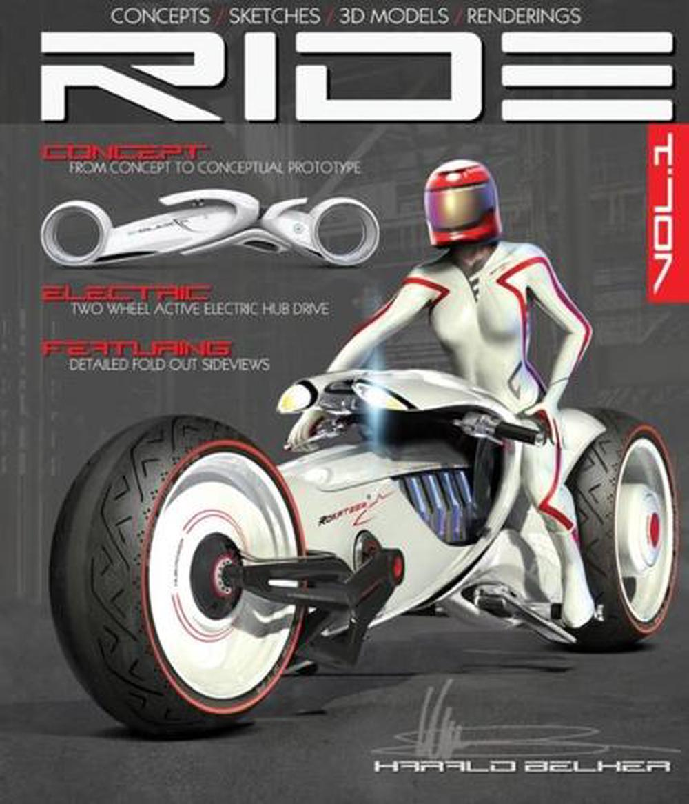Ride: Futuristic Electric Motorcycle Concept