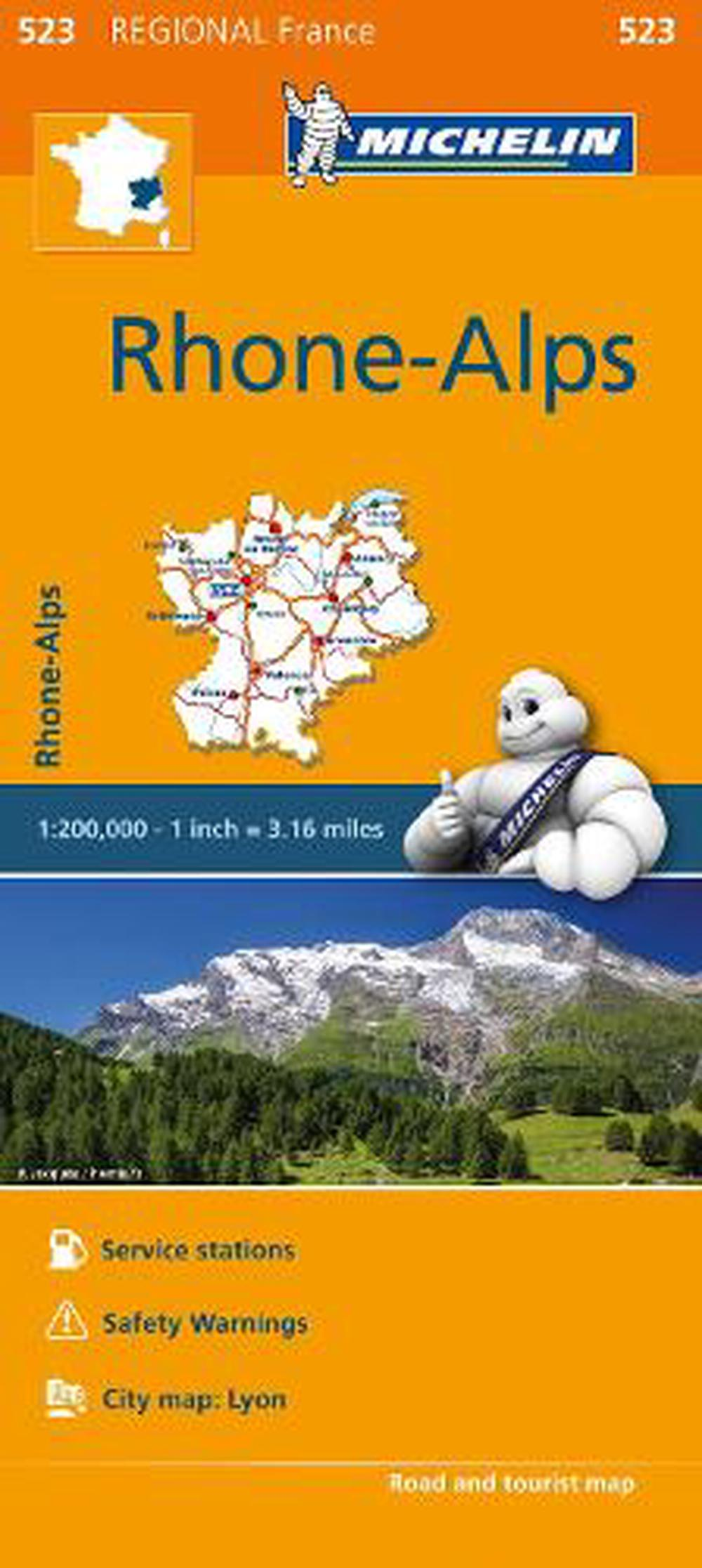 Map Of The Alps In France.Michelin Regional Maps France Rhone Alps Map 523 By Michelin