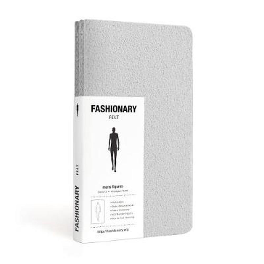 Fashionary Mini Felt Grey Mens Sketchbook A6 (Set of 3)