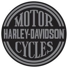 Cookie Jar Tin Sign - Harley Davidson Die Cut Embossed (Platinum Disc Round)