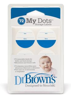 Dr. Brown's My Dot Storage Labels, 72 Pack - For Baby Bottle & Food Storage