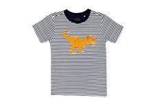 Wild Republic T-Rex Stripe T-Shirt - Size 2
