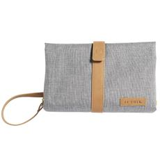 JJ Cole Changing Clutch (Gray Heather with Tan PU)