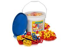 Mobilo Basic Bucket with Lid - 54 Pieces (Bucket Colour May Vary)