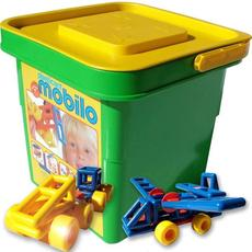 Mobilo Standard Bucket with Lid - 104 Pieces (Bucket Colour May Vary)