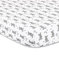 Disney Baby Cotton Fitted Sheet (Geo Mickey Silhouette) - 132x77x19 cm