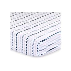 Little Haven Cot Fitted Sheet (Blue/Black Squiggle)