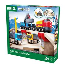BRIO Rail & Road Loading Set, 32 Pieces