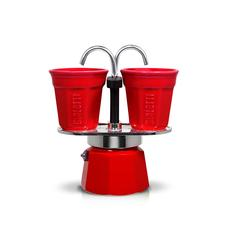 Bialetti Mini Express Espresso Maker (Red) - 2 Cups