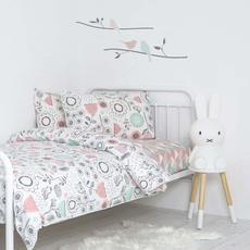 Lolli Living Single Cotton Reversible Bed Set: Duvet Cover & Pillowcase (Sparrow)