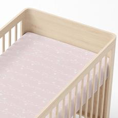Lolli Living Cot Fitted Sheet Forest Friends (Floral Vine) - 77 x 132 x 19cm