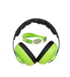 Banz Carewear Protection Set - Baby Sunglasses & Ear Muffs Combo (Lime Green) - 0-2 Years