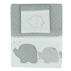 Bubba Blue Premium Embroidered Cot Sheet Set (Petit Elephant)