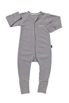 Bonds Zip Wondersuit (Dark Grey Stripe) - Size 1