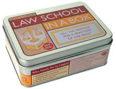 Law School in a Box: All the Prestige for a Fraction of the Price [With 96 Page TextbookWith Trading CardsWith Diploma and Exam TriviaWith Flashcards]
